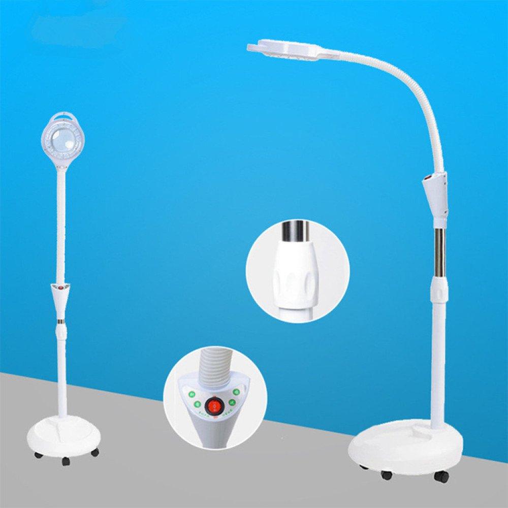 8x Stand Protección Lupa Piel Spa Rolling Ajustable Lámpara Manicura Led La Floor Belleza Con Para Tatuaje Giratorio Salón Brazo De xWoCQBEred
