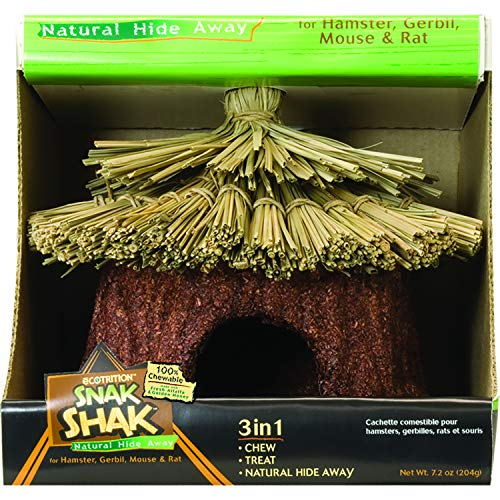 Ecotrition Snak Shak Natural Hideaway For Guinea Pigs And Large Rabbits, Large, Chewable