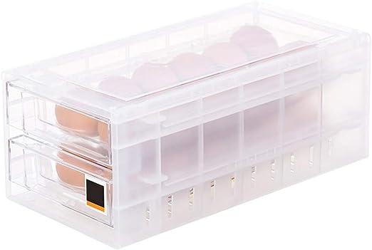 UPKOCH 24 rejillas caja de almacenamiento de huevos refrigerador contenedor de huevos contenedor refrigerador caja de conservación de alimentos: Amazon.es: Hogar