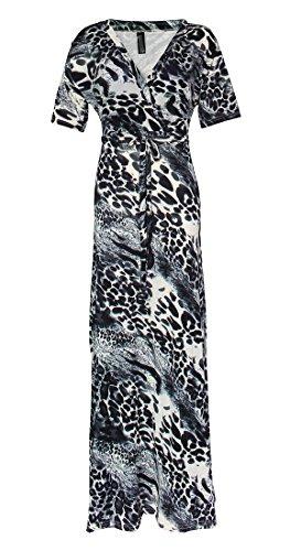 long black and leopard print dress - 5