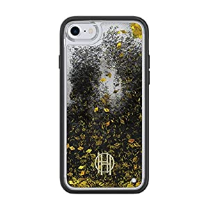 House of Harlow 1960 Liquid Glitter Case for iPhone 8 & iPhone 7 – Clear/Gold Glitter/Black Glitter