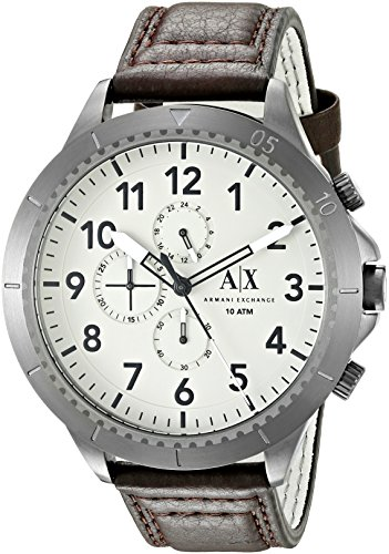 Armani Exchange Men's AX1757 Brown Leather Watch -
