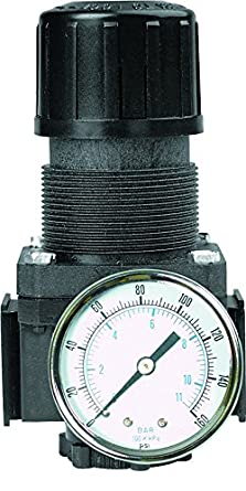 Arrow Pneumatics R376G 3//4 Midflow Reg Black E Coated Aluminum Body 250 Psig Max Pressure Knob Gauge 40 degreeF to 120 degreeF 3 Pos
