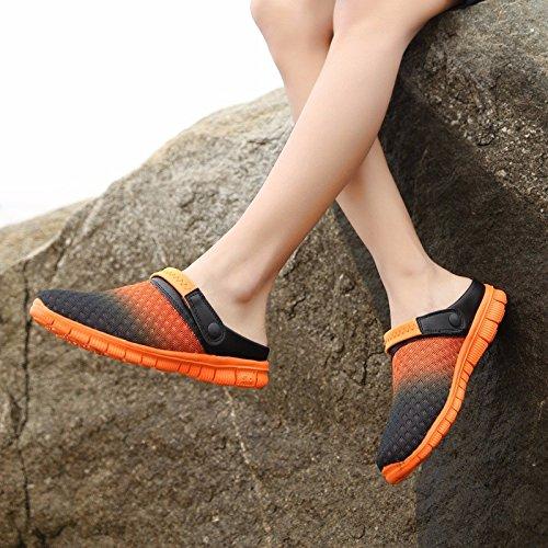 estate Nuovo prodotto Uomini Spiaggia Buco scarpa Coppia sandali Taglia larga Tempo libero sandali Coppia tendenza sandali Uomini ,arancia,US=7.5,UK=7,EU=40 2/3,CN=41