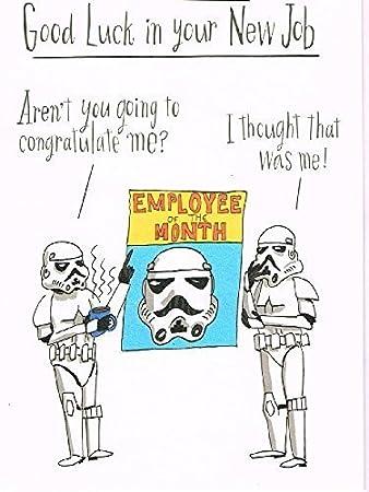 Star wars good luck in your new job card amazon office products star wars good luck in your new job card m4hsunfo