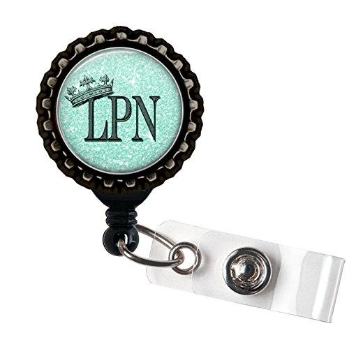 Crown Badge - LPN Royalty - Resin Blue Medical Crown Badge Reel