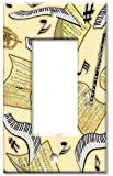 Art Plates - Music in the Air Switch Plate - Single Rocker