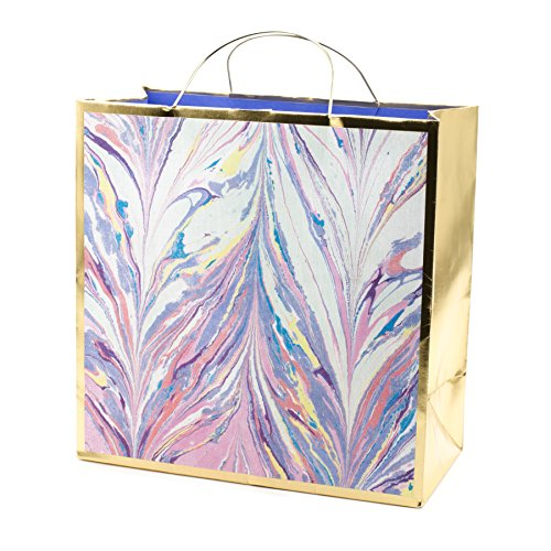 Hallmark Signature Large Gift Bag-Birthday, Bridal Shower, All Occasion (Marble)