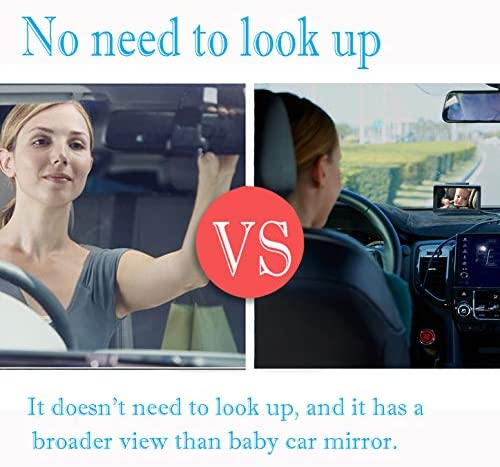 51774PEI%2BPL. AC - Baby-Mirror For-Car Back-Seat - Baby Car Camera With Night Vision, View Infant In Rear Facing Seat With 4.3-Inch HD Display, Observe The Baby's Every Move At Any Time While Driving