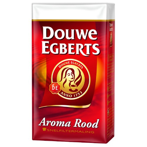 Douwe Egberts Aroma Rood Ground Coffee, 8.8-ounce Packages (Pack of 4) (Dutch Ground Coffee)