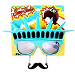 Party Favors Instant Costume UV400 Sunstaches Censored Sunglasses