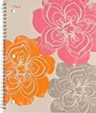 Mead Pretty Please Notebook, 10-1/2 x 8-Inches , 1-Subject, 80 sheets, College Ruled, Large Flowers (72008)