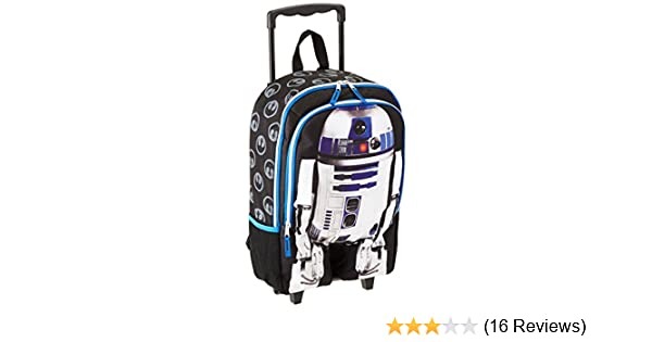 """Disney Star Wars Luggage R2D2 16/"""" inch Rolling Backpack BRAND NEW Licensed"""