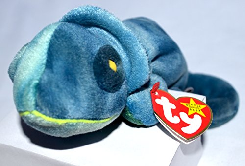 Ty Beanie Babies Rainbow (Blue Tie-Dye) Chameleon