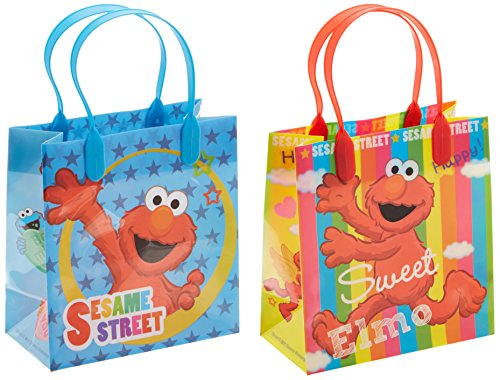 Elmo Sesame Street Party Favor Goodie Small Gift Bags 12