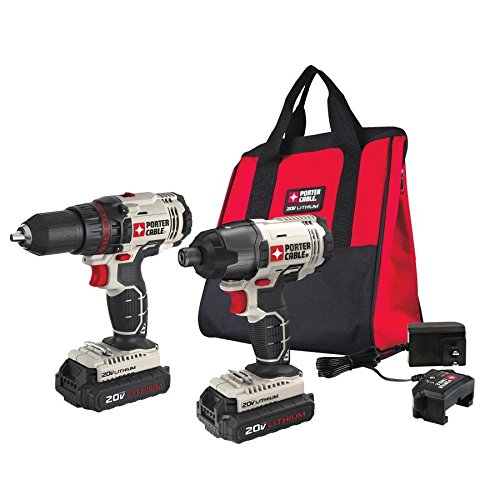 PORTER CABLE PCCK604L2 20V MAX 2-Tool Cordless Drill/Driver and Impact Driver Combo Kit from PORTER-CABLE