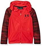 Under Armour Boys' Threadborne Full Zip Hoodie,Red /Black, Youth X-Small
