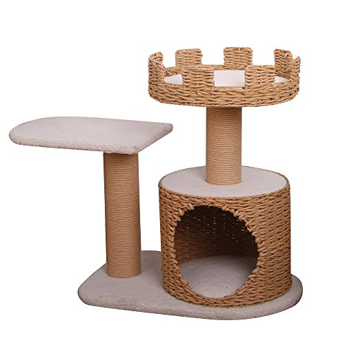 Crown - PetPals 3 Level Recycled Paper Made Cat Furniture, - Pals Pet Level Three