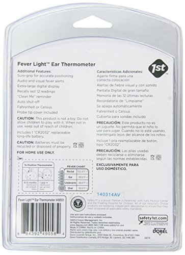 Amazon.Com : Safety 1St Fever Light 1 Second Ear Thermometer : Baby