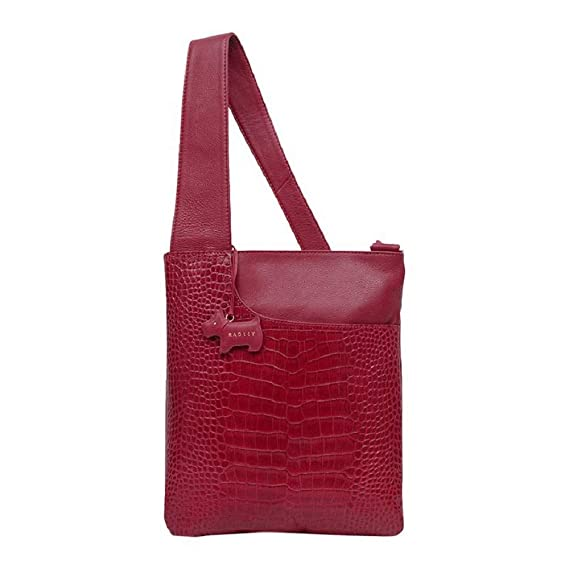 8c856270fb217a RADLEY Medium Patch Pocket Cross Body Bag in Croc Effect Claret Red Leather:  Amazon.co.uk: Clothing
