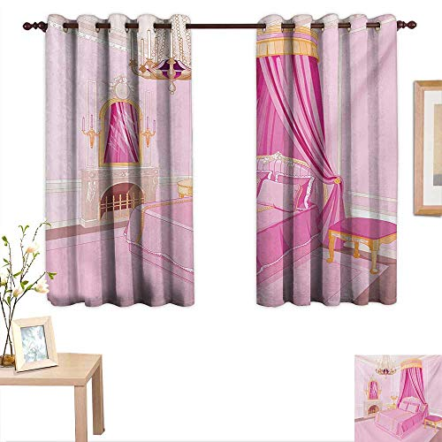 Princess Decorative Curtains for Living Room Interior of Magic Princess Bedroom Old Fashioned Ornament Pillow Mirror Print 63