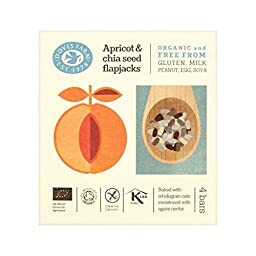 Doves Farm GF Apricot & Chia Organic Flapjacks 4 x 35g - (Pack of 4)