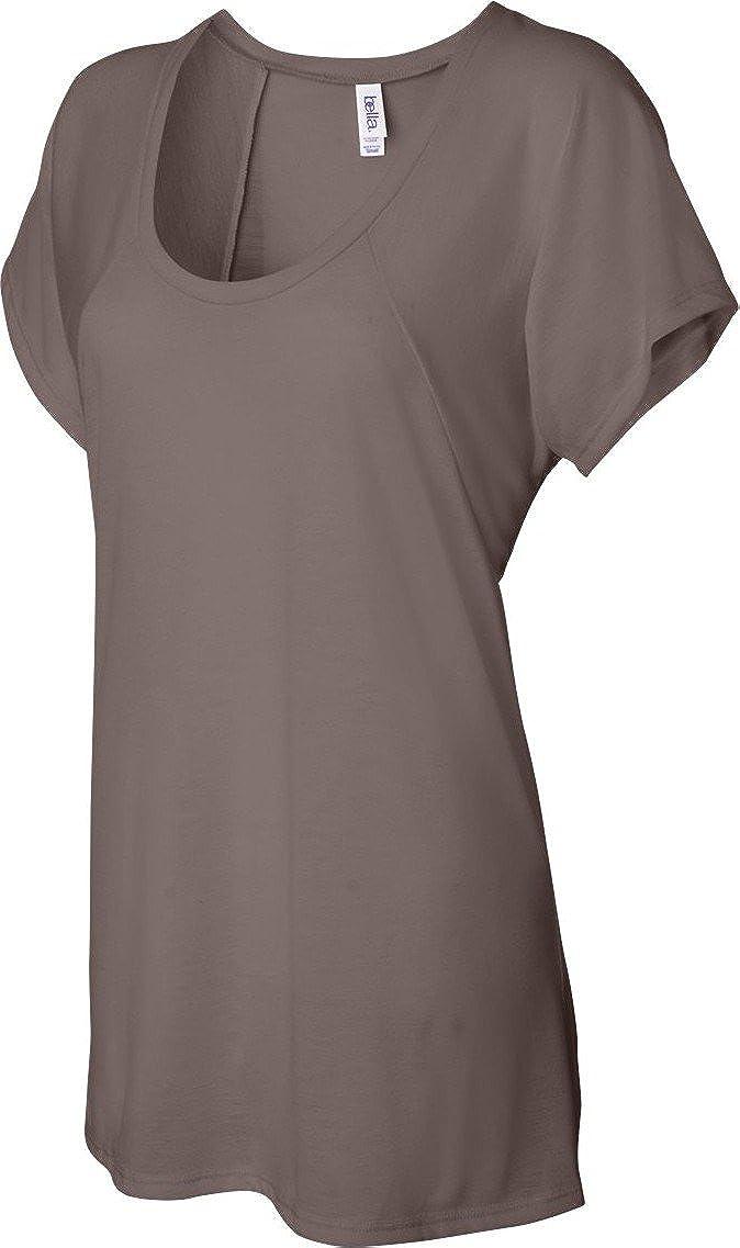 c9748e2b2 Bella Ladies' 3.7 oz. Melody Flowy T-Shirt B8801 at Amazon Women's Clothing  store: