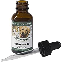 Only Natural Pet Incontinence Homeopathic Remedy - Bladder Support and Urine Control Supplement