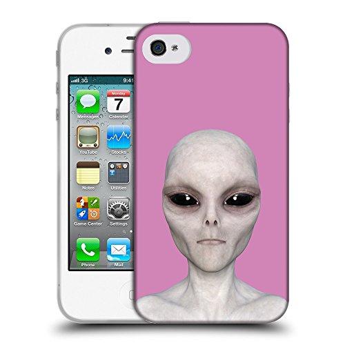 GoGoMobile Coque de Protection TPU Silicone Case pour // Q05510618 Alien encore Bronzo // Apple iPhone 4 4S 4G