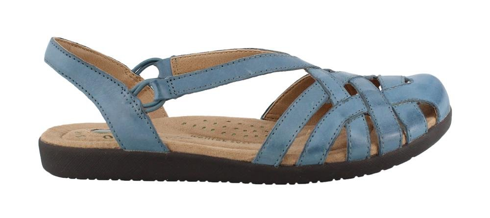 EARTH ORIGINS Women's, Nellie Low Heel Sandals Blue 11 M