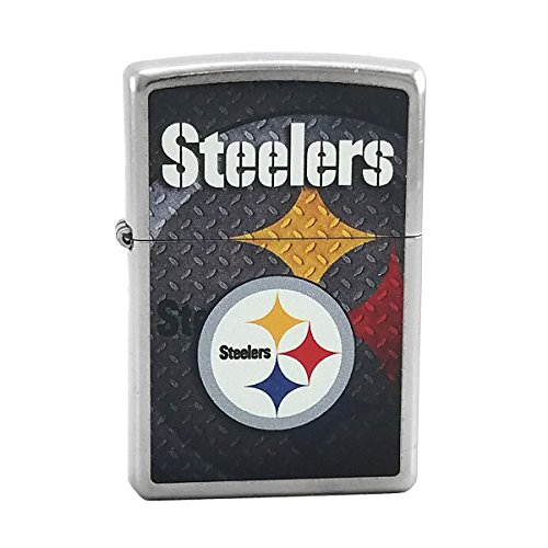 Custom Style Personalized Zippo Lighter NFL - Free Laser Engraving (Pittsburgh Steelers)