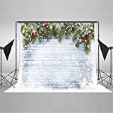 Kate 10x10ft Christmas Backdrop for Photographers White Snowflake Wood Background Christmas Decoration Backdrops