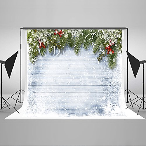 Kate 10x6.5ft Christmas Backdrop Winter Scene White Snow Wood Wall Photo (Winter Scene Backdrops)