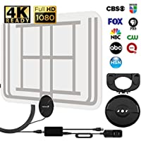 Fosmon Indoor HDTV Antenna with Amplifier Signal Booster / 10FT Coaxial Cable