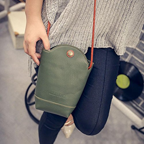 Shoulder Handbag Bag GBSELL Slim Purse Green Women Crossbody Vintage Messenger wq8p6qX