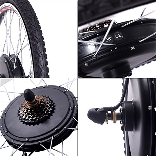 c4a680046a7 JAXPETY 48V 1000W Electric Bicycle Cycle E Bike 26″ Rear Wheel Ebike Hub  Motor Conversion Kit Hub Motor Wheel