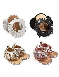 Fashion Infant Baby Girl Sandal Tassel Anti-Slip Prewalker Toddler Shoes Gift