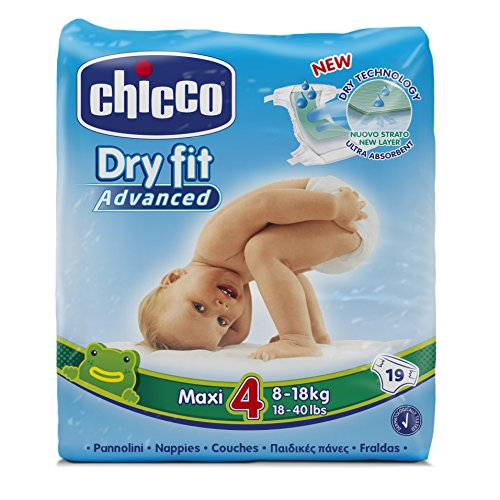 Chicco Dry Fit Advanced Taped Diapers Maxi Size 4 19 Pieces