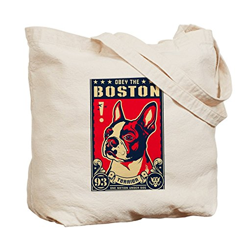 CafePress–OBEY THE Boston Terrier. Estados Unidos–Gamuza de bolsa de lona bolsa, bolsa de la compra