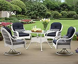 Donglin Furniture Company LLC Better Homes and Gardens Azalea Ridge 5-Piece Patio Dining Set, White #42247753