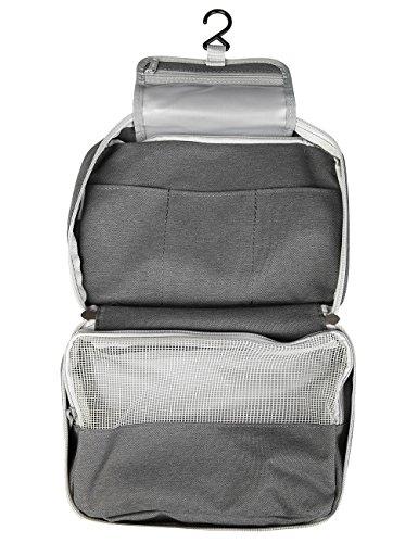 iSuperb Travel Toiletry Bag Waterproof Cosmetic Bag Bathroom Storage with Hanging Hook