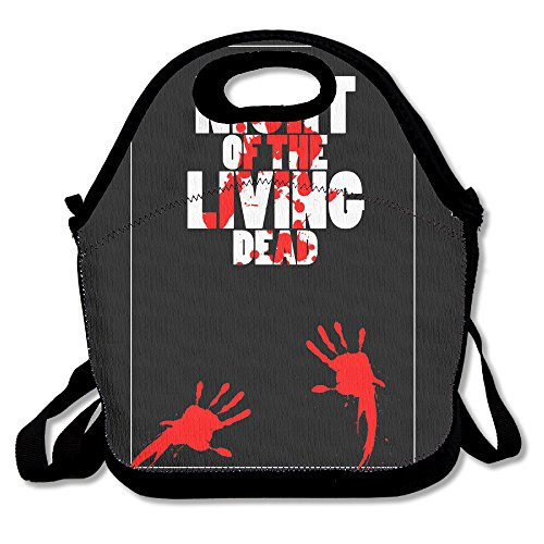 Black Night Of The Living Dead Unisex Lunch Bag For Woman Man (Halloween 2 Remake Mask)
