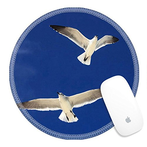 Luxlady Round Gaming Mousepad 34745658 Great Black Backed Gull Larus Marinus Cayo Guillermo