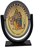 Odishabazaar Lord Radha Krishna Idol for Car Dashboard / Home / Office / Perfect Gift Item - 3 X 2.5 Inch