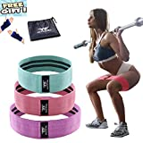 WOOSL Resistance Bands Booty Bands Loop Exercise Bands Workout Bands Hip Bands Booty Band with Fabric Anti-Slipping Glute Wide Resistance Bands for Legs and Butt Cotton Fitness Loop Review