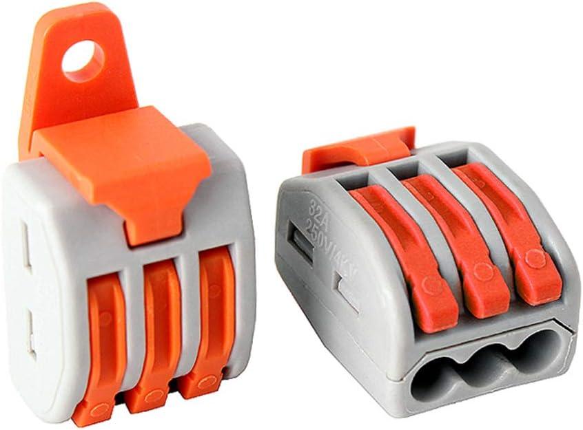 Bornier universel Push-in 10 maidodo 10PCS Connecteurs de bornier /à quatre trous 222-414 Connecteurs de fil compacts