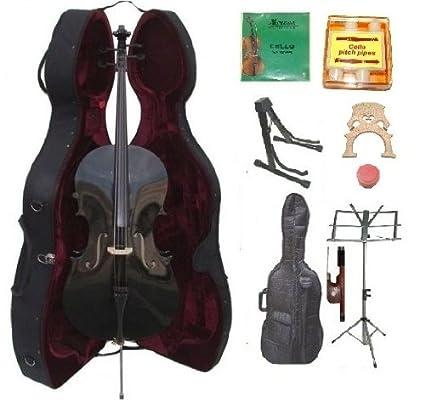 Amazon.com: Grace 4/4 tamaño violonchelo de color negro con ...