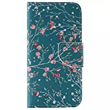 S6 Case,Samsung Galaxy S6 Case,Ngift [Flower] [Kickstand Feature] Luxury PU Leather [Wallet S] Folio Wallet Flip Case Cover Built-in Card Slots for Samsung Galaxy S6
