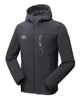 Runyue Hombre Chaqueta Ligera Jacket de Outdoor con Capucha y Cremallera Abrigo Impermeable Rompevientos: Amazon.es: Deportes y aire libre