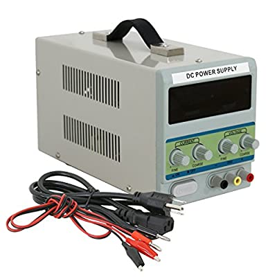 ZENY DC Power Supply 110V AC 30V 10A Precision Variable Digital Adjustable w/ Clip Cable